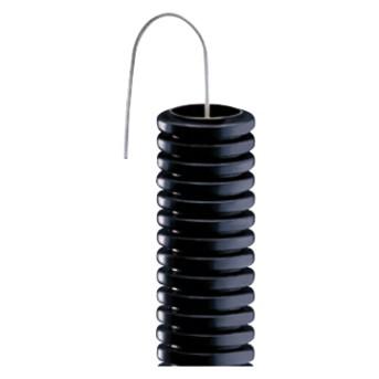 Copex PVC Gewiss tub flexibil cu fir de tragere negru mediu 2J D 16mm L100m - DX15116R - 8034035042188