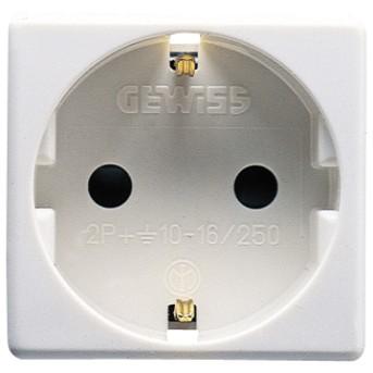 Priza Gewiss GW20265 cu Protectie Copii DE 250V 16A 2P+E 2m SY/WH - GW20265 - 8011564038516