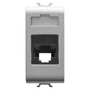Priza telefon RJ11 1 modul CH/VT - GW14401 - 8011564267084