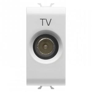 Priza TV De trecere Tata 1 modul CH/WH - GW10362 - 8011564259577