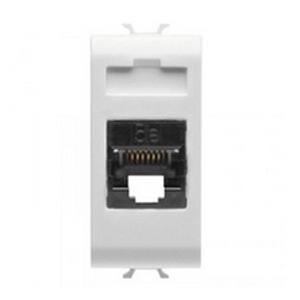 Priza RJ45 cat 5e UTP 1 modul CH/WH - GW10421 - 8011564257672