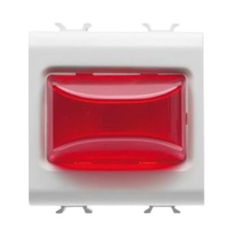 Buton indicator LED Rosu 2 module CH/WH - GW10633 - 8011564259065
