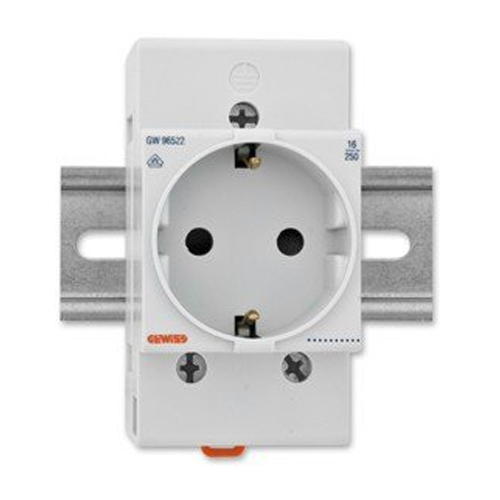 Priza montare pe sina DIN 2P+E DE 16A 2.5 module - GW96522 - 8011564441729