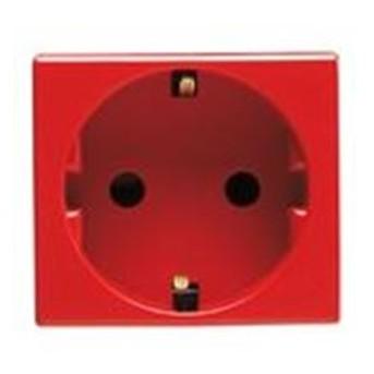 Priza Rosie cu Protectie Copii DE 250V 16A 2P+E 2 module SY/RED - GW20297 - 8011564044883