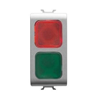 Indicator LED Rosu/Verde 1 modul CH/VT - GW14629 - 8011564268531