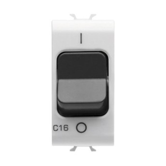 GW10468 Intrerupator 1P+N C16 3KA 230V AC 1 modul CH/WH - GW10468 - 8011564262706