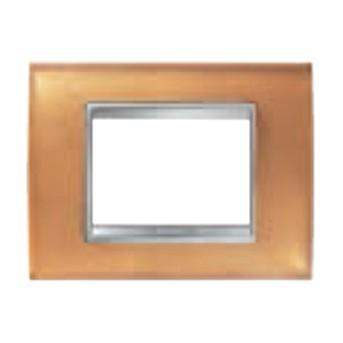 Rama Lux 6 module CH/Ocru (sticla) - GW16206CO - 8011564272989