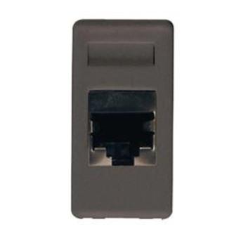 Priza UTP RJ45 cat 6 1 modul SY/BK - GW21684 - 8011564128873