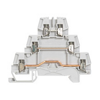 037151 Clema conexiune cu surub 0.25-4mm, 3 jonctiuni/3 niveluri, Gri - 037151 - 3245060371517