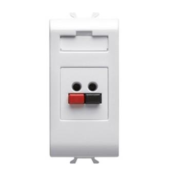 Priza microfon/boxa 1 modul CH/WH - GW10458 - 8011564719200