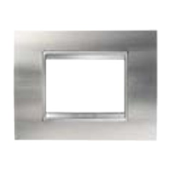 Rama Lux 6 module CH/Otel periat (metal) - GW16206MI - 8011564273269