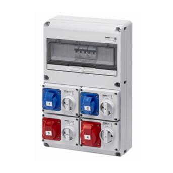 Tablou industrial Q-DIN 2x2P+E/16A + 3P+E/16A + 3P+E/32A, IP44 - GW68206N - 8011564749702