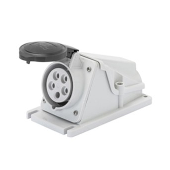 Priza industriala fixa 90G 3P+T 16A 500V 7h, Negru, IP44 - GW62483 - 8011564004696