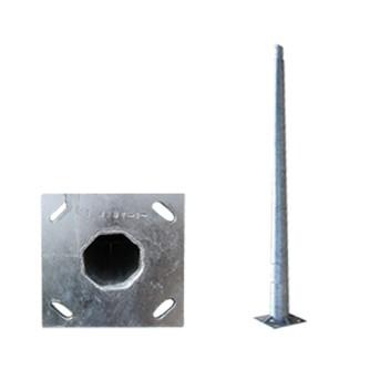 Stalp iluminat metalic octogonal 4m T=3mm, DWS-130Km/h - PAD0-40/0