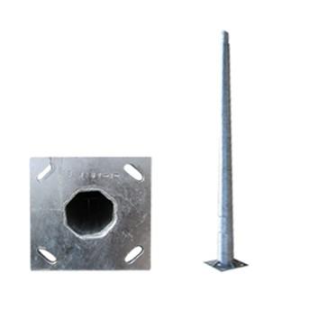 Stalp iluminat metalic octogonal 5m T=3mm, DWS-130Km/h - PAD0-50/0