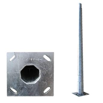 Stalp iluminat metalic octogonal 10m T=3mm, DWS-130Km/h - PAD0-100/0