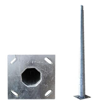 Stalp iluminat metalic octogonal 9m T=3mm, DWS-130Km/h - PAD0-90/0