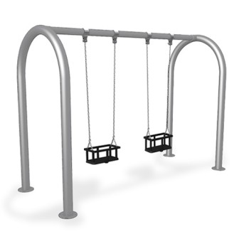 Leagan metalic, 2 locuri cu protectie - JKSP2MSD