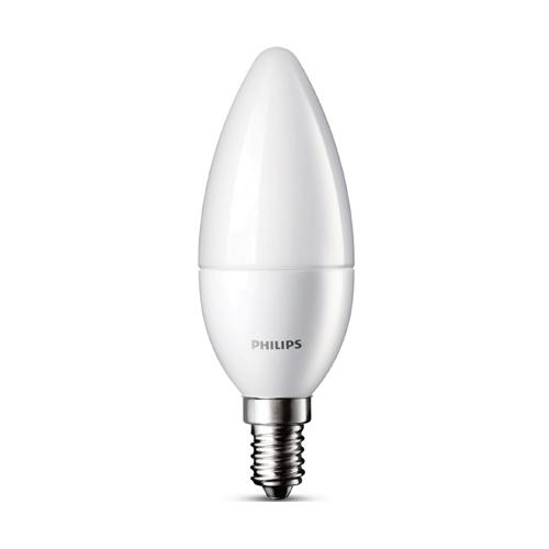 Bec Philips Led lumanare LEDcandle B39 FR 6-40W 2700K (470lm) E14, 15.000h - 8718291762324 - 929000273201