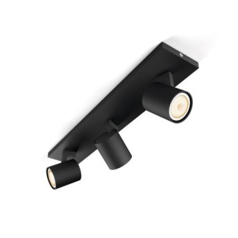 Spot LED triplu aplicat Philips HUE Runner Negru intrerupator dimabil inclus - 5309330P7 - 8718696159361 - 915005403701
