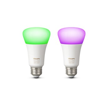 Set 2 Becuri Philips HUE RGB A19 bluetooth 10W 806lm dulie E27 - 929002216803 - 8718699673284