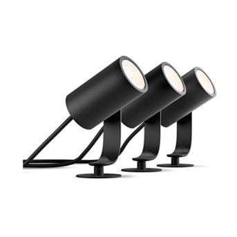 Set 3 proiectoare exterior Philips HUE Lily Crom mat bec LED, adaptor IP65 - 1741430P7 - 8718696167960 - 915005629701