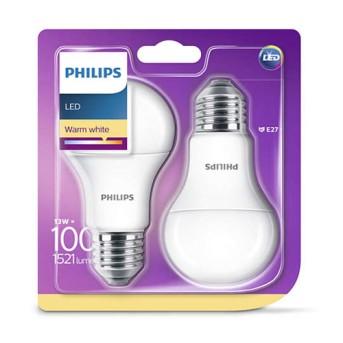 Sursa / bec LED Philips A60M FR Set 2x13 100W 2700K 1521lm E27 - 929001234561 - 8718696586099