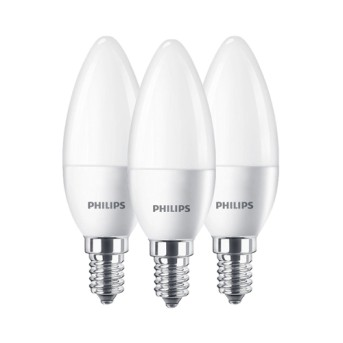 Set 3 Becuri LED Philips lumanare B35 FR Set 3x5.5 40W 2700K 470lm E14 - 929001253633 - 8718699777814