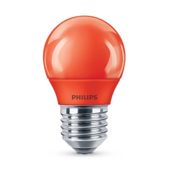 Bec LED Philips colorat P45 3.1 25W RE Rosu E27 - 929001393958 - 8718696748589