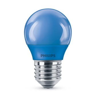 Bec LED Philips colorat P45 3.1 25W BL Albastru E27 - 929001394158 - 8718696748626