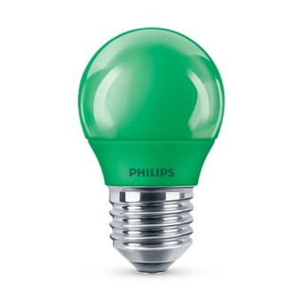 Bec LED Philips colorat P45 3.1 25W GR Verde E27 - 929001394258 - 8718696748640