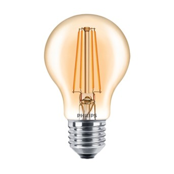 Bec LED Philips Classic Filament A60 Dim Gold 7.5 48W 2000K 610lm - 929001332902 - 8718696709566