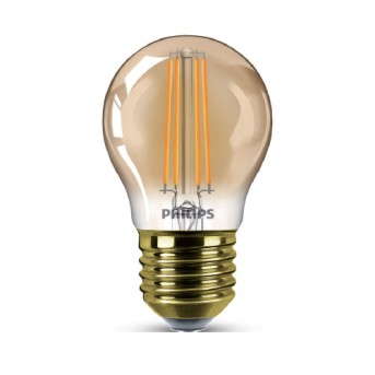 LED Classic Filament P45 Gold 3.5 15W 2000K 136lm E27 15.000h - 929002224201 - 8718699676117