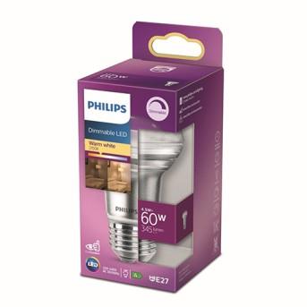 Bec Philips LED reflector R63 Dim 4.5 60W 2700K 345lm E27 36D - 929001891455 - 8718699773830