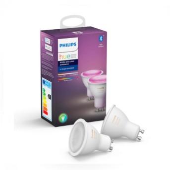 HUE Set Bec 2 x 5.7W LED Ambiance GU10 BT 2200-6500K (2 becuri) - 929001953102 - 8718699629250