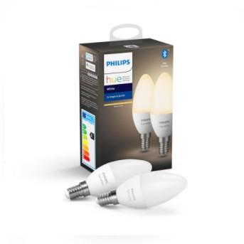 HUE Set Bec 2 x 5.5W LED White B39 E14 BT 2700K - 929002039902 - 8718699671273