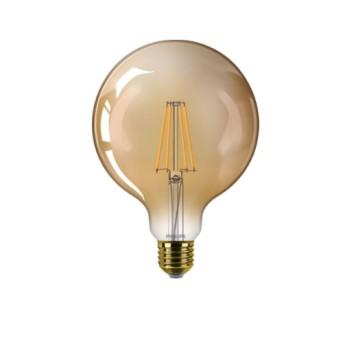 BEL LED Classic Filament Globe G120 Gold Dim 7.2 50W 2200K 650lm E27 15.000h - 929002413001 - 8718699782511