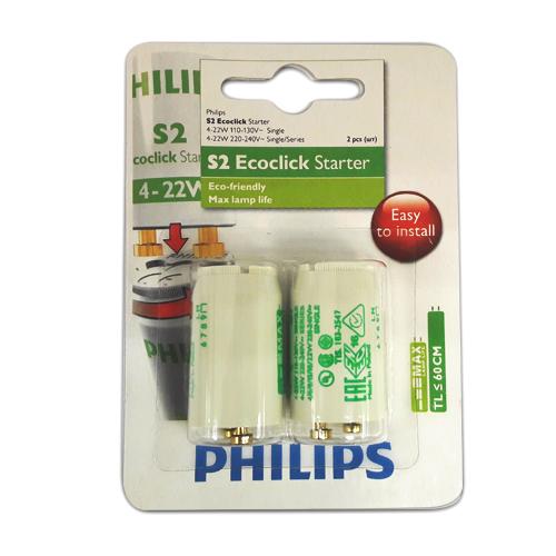 Set 2 startere Philips S2 4-22W SER 220-240V WH 2BL/10 - 928390710186 - 8711500698308