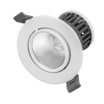 Spot LED 10W 690lm 4000K WFL Alb Mobil 68mm IP20 RAD - 4003556005426