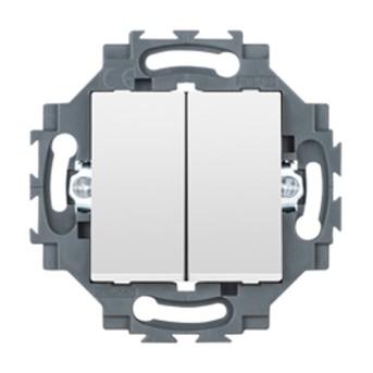 Dahlia Intrerupator dublu 1P 10A, Alb - GW35051W - 8011564862432
