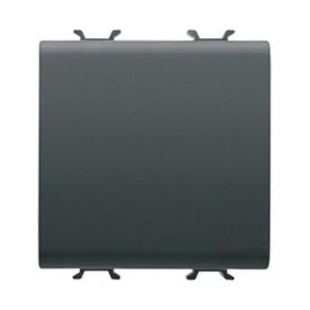 Intrerupator cap cruce 1P 16AX 2 module CH/BK - GW12101 - 8011564268715