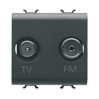 Priza TV+FM 2M CH/BK - GW12381 - 8011564269019
