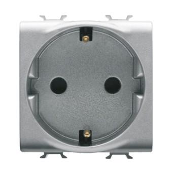 Priza cu Protectie Copii DE 250V 16A 2P+T 2 module CH/VT - GW14241 - 8011564266353