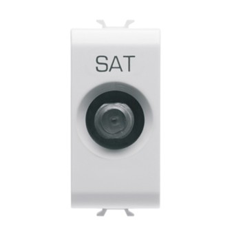 Priza SAT 14dB 1 modul CH/WH - GW10374 - 8011564259386