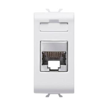 Priza RJ45 cat 5E FTP 1 modul CH/WH - GW10422 - 8011564257689
