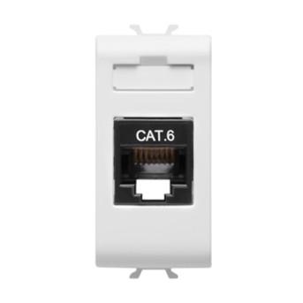 Priza RJ45 cat 6 UTP 1 modul CH/WH - GW10423 - 8011564257696