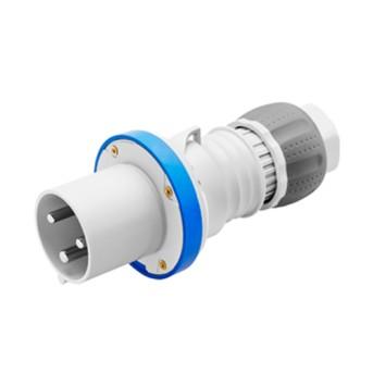 Fisa industriala 2P+T 63A 230V 6h, Albastru, IP44/IP54 - GW61016H