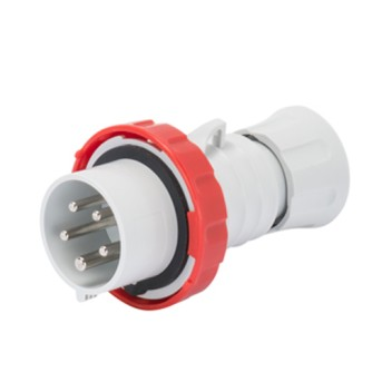 Fisa industriala 3P+N+T 32A 400V 6h, Rosu, IP66-IP69 - GW60042H - 8011564797284
