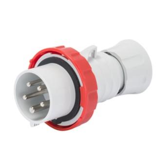 Fisa industriala 3P+N+T 16A 400V 6h, Rosu, IP66-IP69 - GW60031H - 8011564797086