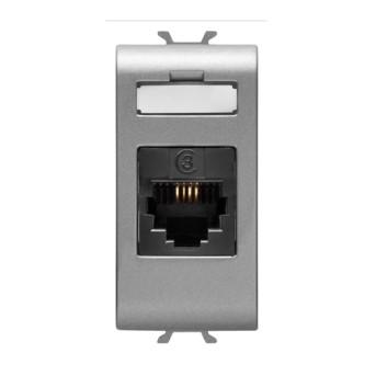 GW14402 Priza telefon RJ11 IN/OUT CH/VT - GW14402 - 8011564267091